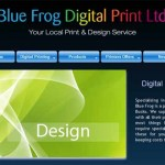 image of website build for blue frog digital print aylesbury