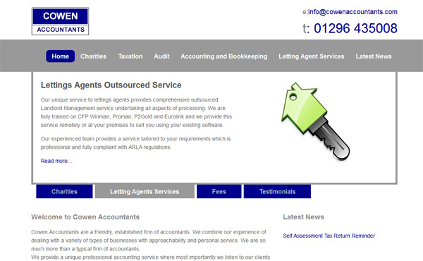 cowan accountants aylesbury screen-shot