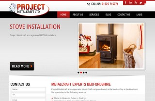 Image of Project Metal Craft WordPress website