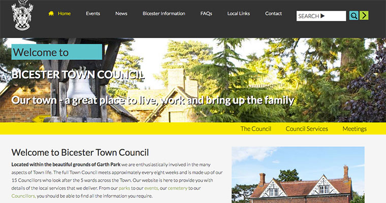 Bicester Town Council Website