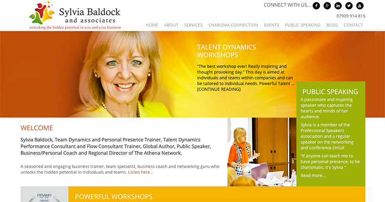Sylvia Baldock website